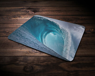 Dark blue wave 5mm Rubber Mouse Mat PC Pad D2
