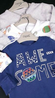 Baby Boys Clothes NEXT X3 AWESOME Space Babygrows Sleepsuits Rompers 3-6 Months