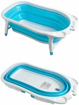 Baby Portable Folding Safety Bathtub Foldable Toddler Non Skid Bathing Bath Tub