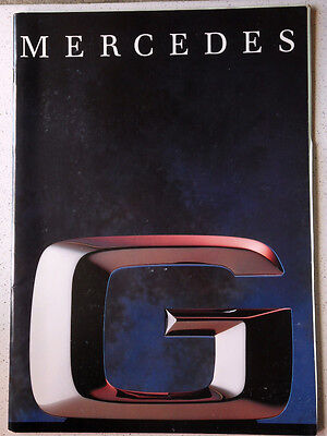 Rare Catalogue Mercedes G 4X4 1992/300 Gd/350 Gd Turbo/230 Ge/300 Ge/38 Pages
