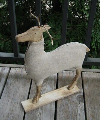 Reindeer Deer Sculpture*Primitive/French Country Christmas Farmhouse Decor*New!