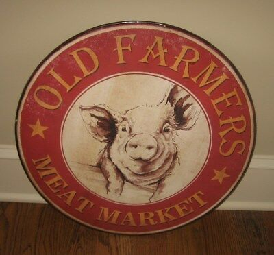 PIG Farmhouse SIGN*Farmers Meat Market*Primitive/French Country Kitchen Decor