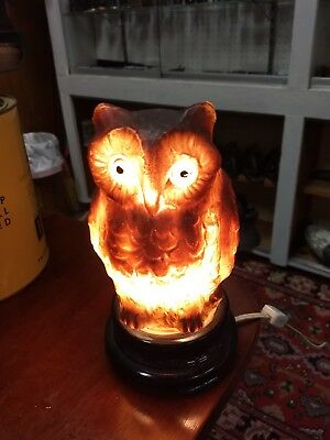Rare Vintage lamp Halloween Owl Lantern glass frosted 1920s and 1930s