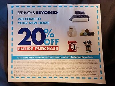 Bed Bath Beyond 20 Off Entire Purchase Coupon Exp 01 01 2019
