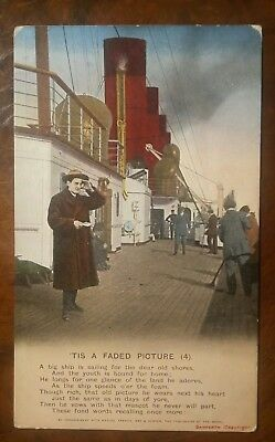 Cunard Line Mauretania at sea RP passengers & deck games original pocard  1910