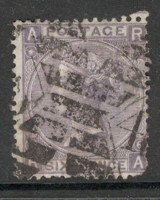Queen Victoria - SG 104 - 6d Lilac-Plate 6 - Used -  (£100.00) Letters D A