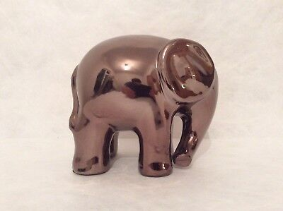 Ornamental Bronze Ceramic Elephant Sculpture