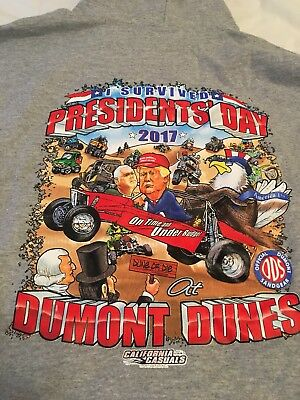 Dumont Dunes Presidents Day Weekend 2017 Hoodie 2XL Jeep Jamboree New Hill Climb