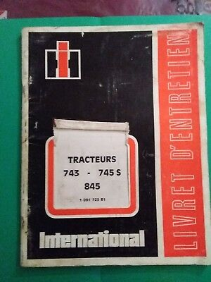 Catalogue Livret D'utilisation Tracteur Ih International 743/745 S/845