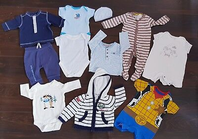 Baby Boy Winter clothes Bundle 0-3 Months Outfits junior j, H&M,Disney