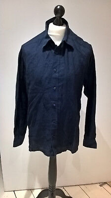 Nigel Hall for Autograph blue linen mens shirt says L but more like M