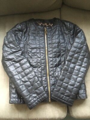 Girls Leather looking Jacket Age 8-9