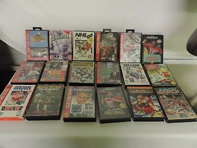 Sega Genesis Lot Of 18 VIDEO Games SOME are CIB ALL TESTED-