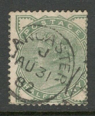 Queen Victoria - SG 165 - 1/2d Pale Green - Used - Lancaster CDS