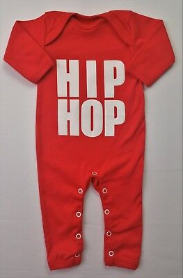 Baby Boys/Girls UNISEX Clothes SNUGLO HIP HOP Red Romper Playsuit 0-3 Months NEW
