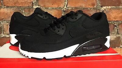 NIKE AIR MAX 90 Txt UK6 US7 Eur40 Noir Blanc or AO2437 002