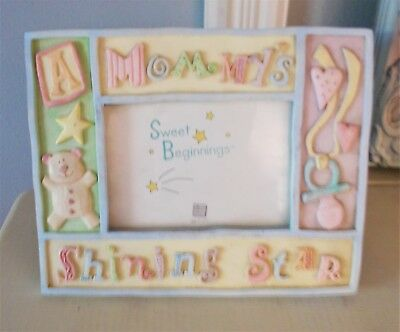 Photo Frame/russ Baby For Baby's Room- Block Letters And Design - Free Standing