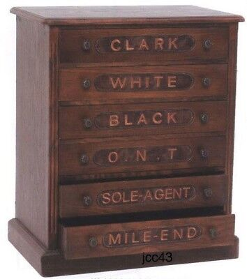 Clark Sewing Quilt Embroidery Thread Spool Cabinet 6 Drawers New