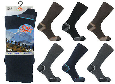 1 Pair Ladies Womens Cotton Rich Cushioned Walking Socks Hiking Boot UK 4-7 Lot