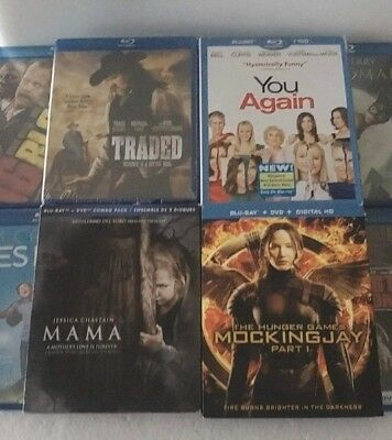 LOT/BUNDLE 10 different Blu-ray Movies New & Factory Sealed