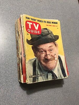1960 TV GUIDE Sweet Lot 15 w/ UNTOUCHABLES & LASSIE Nice Old Collectibles!!!