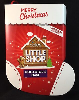 Coles Little Shop Limited Christmas Edition Folder Case & Full Set Of Minis