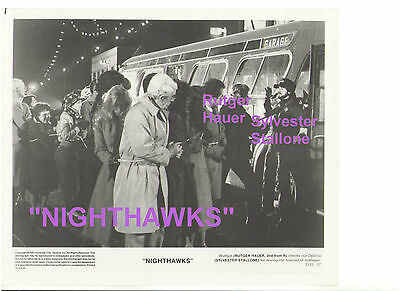 Rutger Hauer Nighthawks Sylvester Stallone Vintage Original 8X10 Press Photo #2