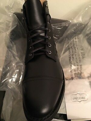 0c62cd471f Black Captain Boot Thursday Boot Company Lace-up Water-Resistant Black 12