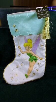 Disney Christmas Tinkerbell Stocking Tinker Bell Sequins New with Tags CUTE