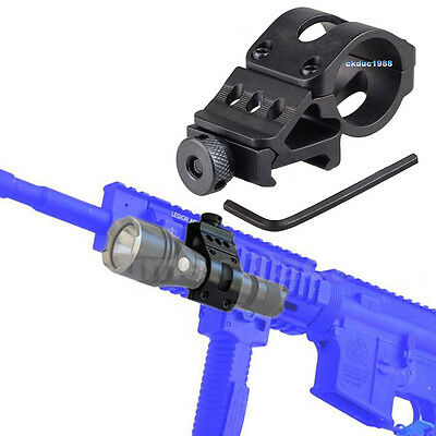 New Scope Ring Dia 30mm 45 Degree Side Offset Picatinny Rail Mount for Rifle 1