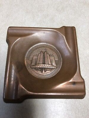 1933 Chicago Worlds Fair Ashtray Century Of Progress