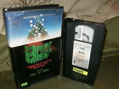 The Bog Very Rare Clam Shell Case VHS Prism 1984