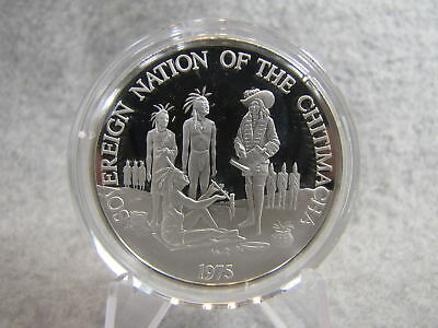Vintage 1975 Native Americana CHITIMACHA PURE SILVER Art Medal 27grams