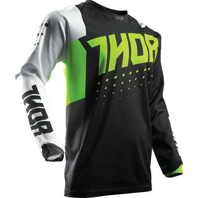 Thor Pulse Aktiv S17 Youth Jersey Lime/Black Thor