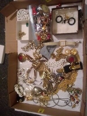 estate lot of vintage costume jewelry. Braclets Earings Necklaces