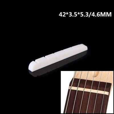 Durable Compact Bone Saddle Nut 42mm For Electric Guitar Strat Stratocaster Tele