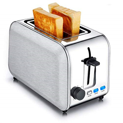Toasters 2 Slice Best Rated Wide Slots Bread Toaster Stainless Steel Bagel With