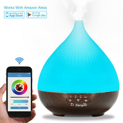 300ml LED Essential Oil Aroma Diffuser  Ultrasonic humidifier Mist Purifier US