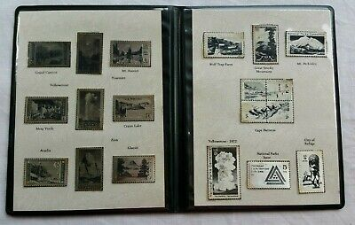 US Postage Stamps In Silver Ingots of National Parks 1916 - 1966
