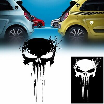 15CM PUNISHER Skull Reflective Car Motorcycle Vinyl Decal Sticker DIY Decoration