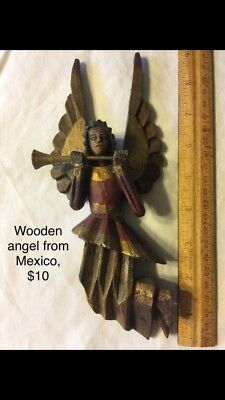 wodden christmas angel from mexico