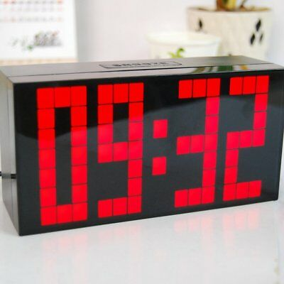 Led Digital Electronic Alarm Clocks Function Indoor Thermometer Clock  Home D