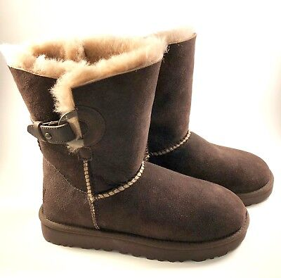 78ac224a2c4 UGG AUSTRALIA WOMEN'S Nash Genuine Shearling Boot chocolate suede ...