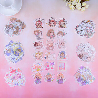 40Pcs/bag lovely girls mini paper stickers DIY book diary scrapbooking sticker^P