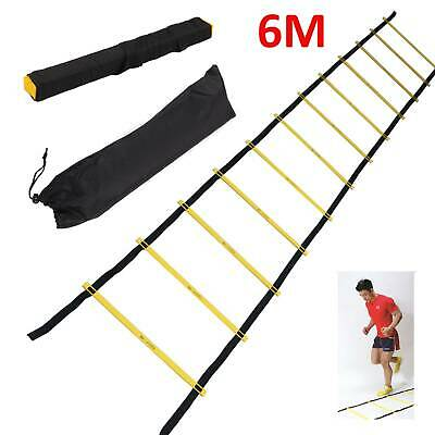 6M Speed Agility Fitness Training Ladder Footwork Football 12-rung Soccer Straps