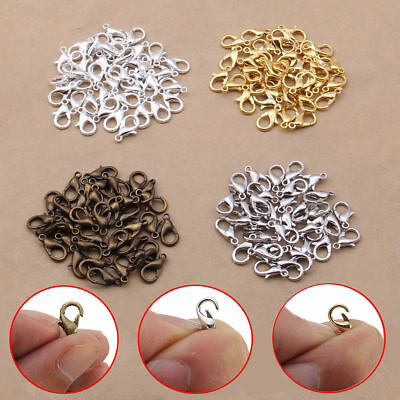 6Size Wholesale High Quality Jewelry Finding Lobster Claw Clasps hook Making DIY