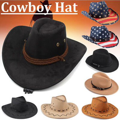 Unisex Western Style Cowboy Hat Men Riding Cap Wide Brim Crushable Crimping  Gift 81fad0a60247