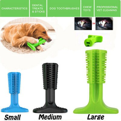 Pets Dog Brushing Stick Dental Toothbrush Puppy Oralcare Most Bite Chew Toys US
