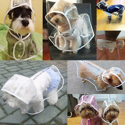 Pet Rain coat for Small Puppy Dogs Jacket Cute Casual Waterproof Dog Clothes UK