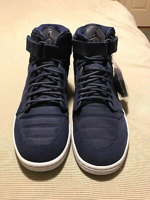 huge selection of e6290 9d1f1 Nike Air Jordan 1 High Strap Basketball Midnight Navy 342132-400 Men s Size  13